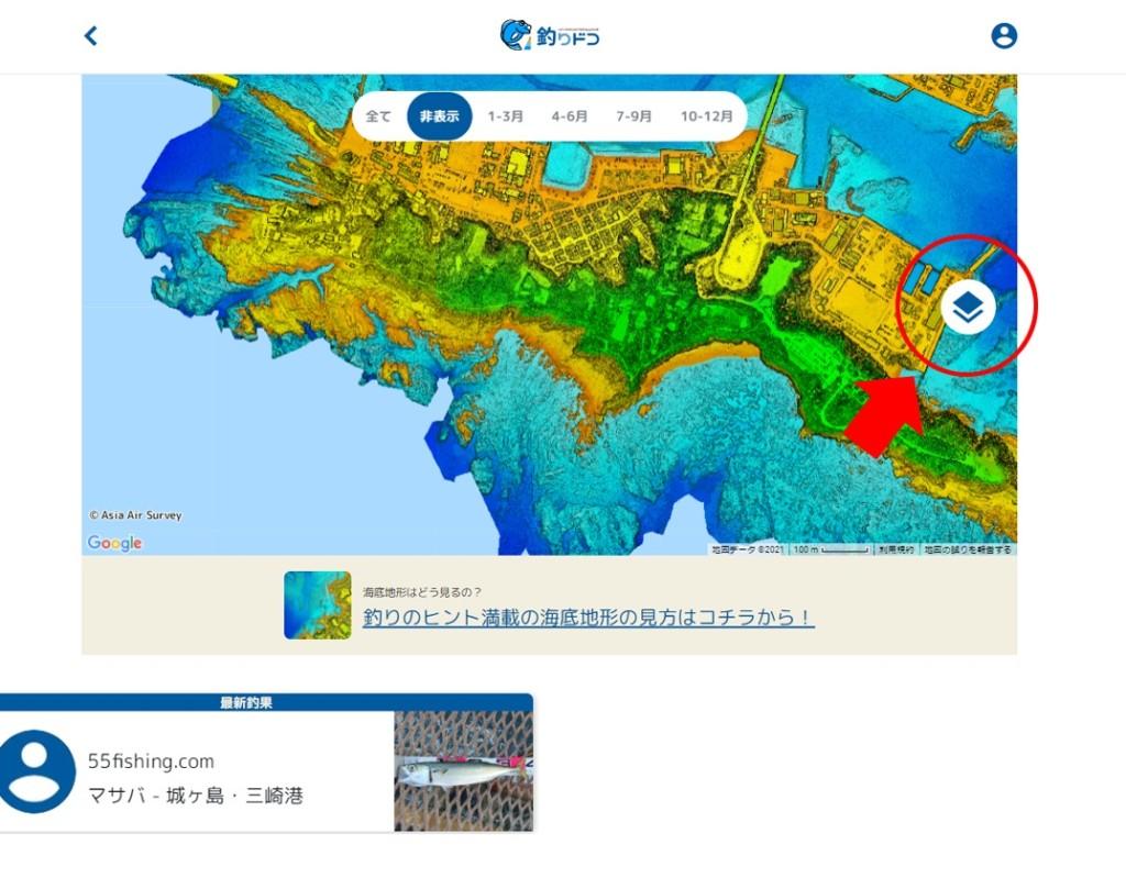 釣りが捗る!詳細な海底地形図を確認できる『釣りドコ』を詳しく解説