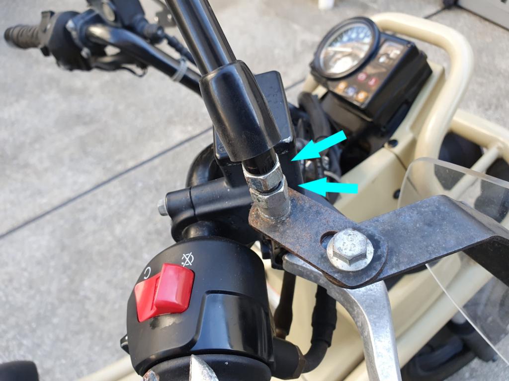 HONDA PS250カスタム:ナックルガードの取り付け方を紹介